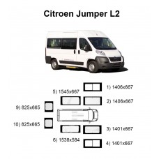 Стекла на Citroen Jumper L2