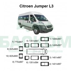 Стекла на Citroen Jumper L3