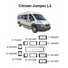 Стекла на Citroen Jumper L3