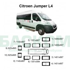 Стекла на Citroen Jumper L4