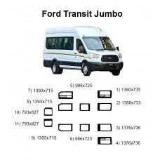 Стекла на Ford Transit Jumbo 2014