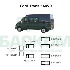 Стекла на Ford Transit MWB