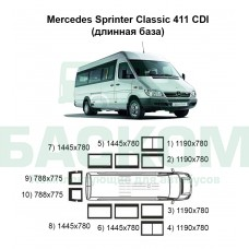 Стекла на Mercedes Sprinter Classic 411 (длинная база)