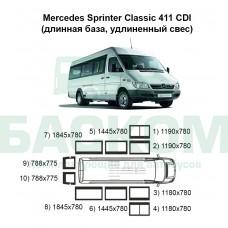 Стекла на Mercedes Sprinter Classic 411 (длинная база, удлиненный свес)