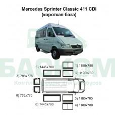 Стекла на Mercedes Sprinter Classic 411 (короткая база)