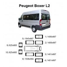 Стекла на Peugeot Boxer L2