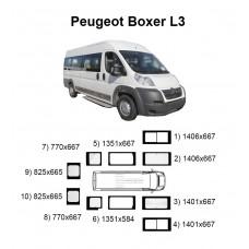 Стекла на Peugeot Boxer L3