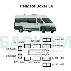 Стекла на Peugeot Boxer L4