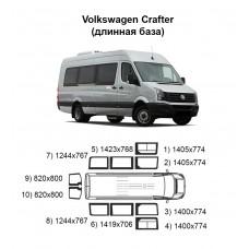 Стекла на Volkswagen Crafter (длинная база)