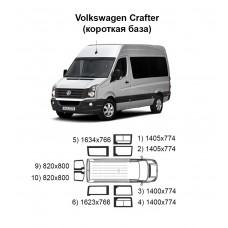 Стекла на Volkwagen Crafter (короткая база)